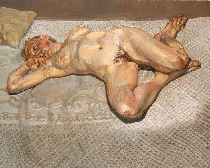 Lucien Freud, Blond Girl on a Bed.  Art Experience NYC  www.artexperiencenyc.com
