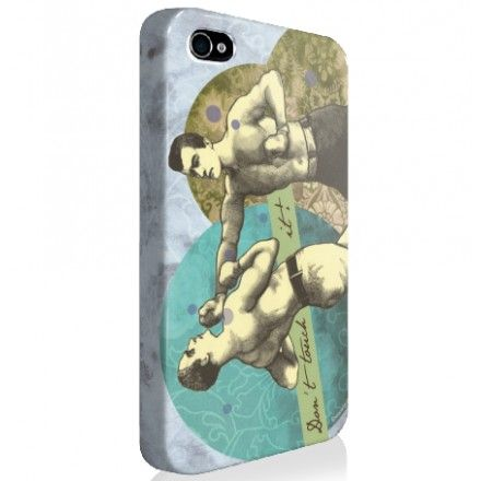 "SALE ! Coque iPhone ""Don't touch it"" Hommes - Les broutilles"