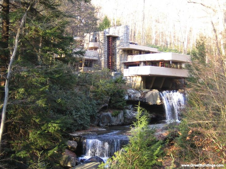 An Architectural Image Of Fallingwater In The Great Buildings Online. Find  This Pin And More On Frank Lloyd Wright ...