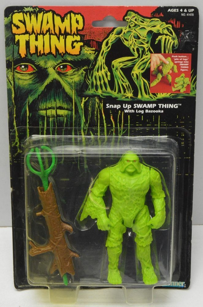 "Swamp Thing ""SNAP UP"" Swamp Thing Kenner 1991 Action Figure NIP #Kenner"