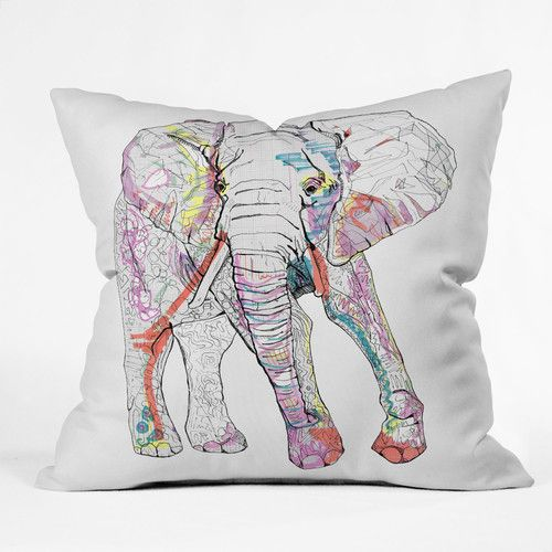 Found it at Wayfair Supply - Casey Rogers Elephant Throw Pillow