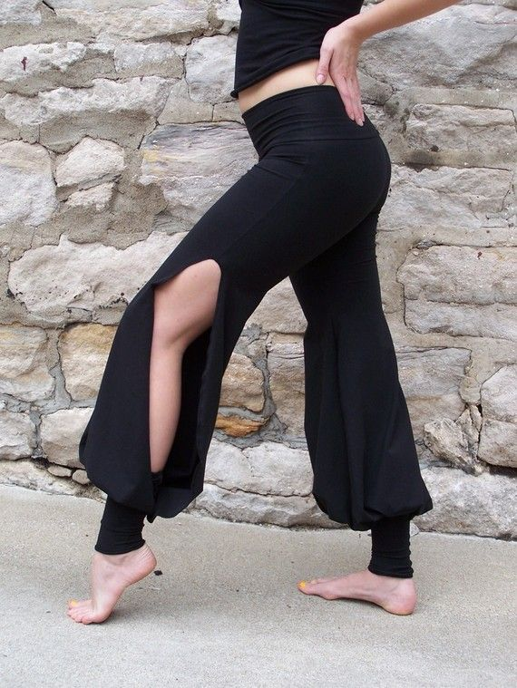 Black Neo Classic Harem Pants by houseofvansickle on Etsy, $70.00