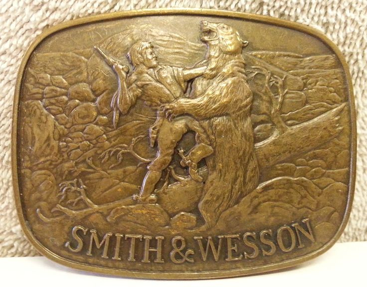 Vintage Smith and Wesson Belt Buckle 'The Last Cartridge ...