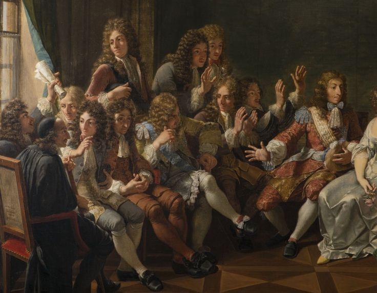 Molière Reading Tartuffe at Ninon de Lenclos's by Monsiau -