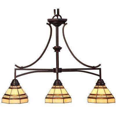 Hampton Bay Addison 3-Light Oil Rubbed Bronze Kitchen Island Light-14789 at The Home Depot