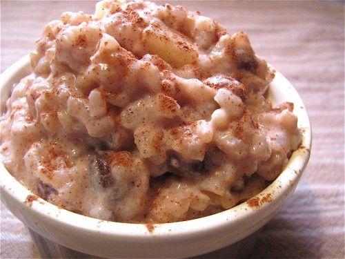 Apple Cinnamon Brown Rice Pudding