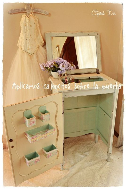 Flip a Stitching Machine Cupboard right into a Charming Self-importance