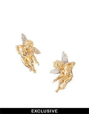 Bill Skinner Exclusive To ASOS Cherub Clip Earrings