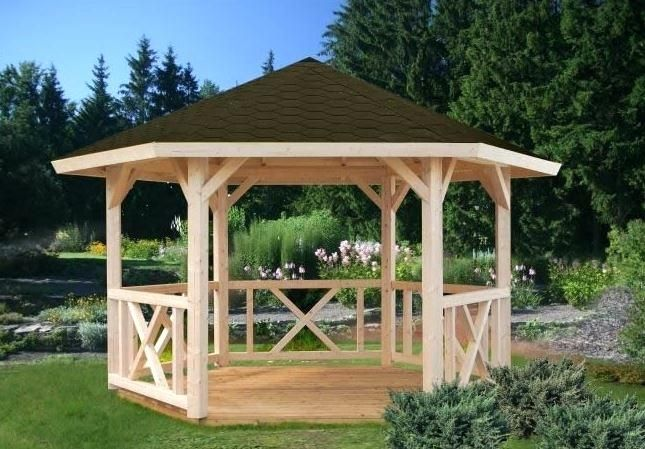 Hexagon Gazebo Plans Wooden Hexagonal Gazebo Wooden Gazebos Who Has The Best Wooden Gazebos 12 Ft Hexagon Gazebo Cenadores De Madera Gazebo De Madera Miradores