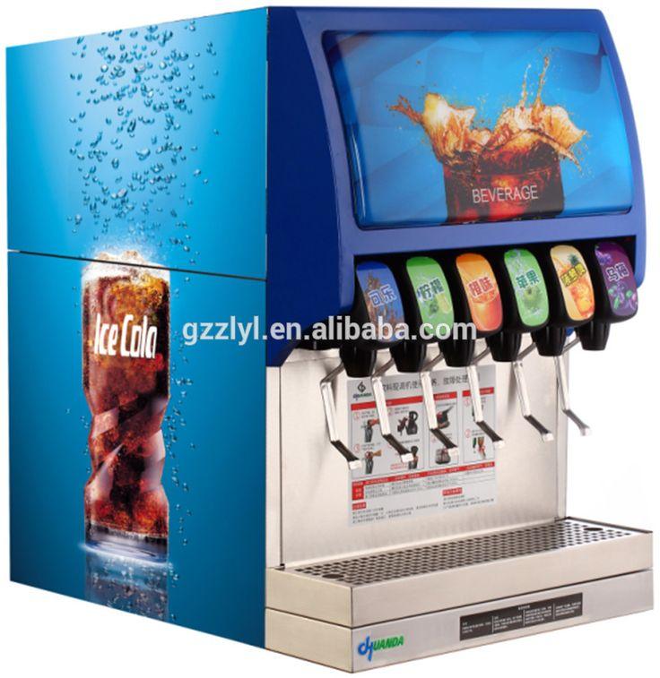 Súper Seis válvulas Fuente de Bebida Carbonatada Máquina de Refrescos comerciales/Fuente de Soda Dispensador