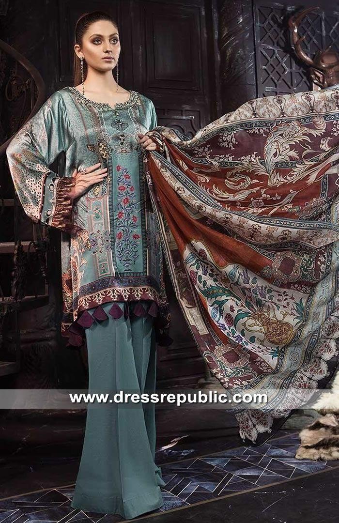 6086d641ebe95 Maria B Silk 2019 - DRP8161 in 2019 | Lawn & Chiffon Dresses | Maria ...