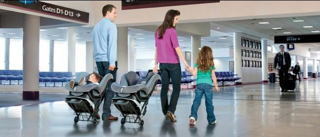 When you have to #fly anywhere, and take the #childcarseat with you, it's always such a hassle! Lugging that thing through the #airport, checking it at the counter or #gatecheck You need help, and here it is! FlightJoy Car Seat Travel bag is the perfect solution for your family. Click here to find more detail: http://tinyurl.com/pcdzt53