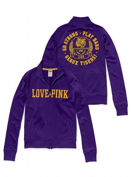 Victoria's Secret PINK LSU Track Jacket #VictoriasSecret http://www.victoriassecret.com/pink/lsu/lsu-track-jacket-victorias-secret-pink?ProductID=82599=OLS?cm_mmc=pinterest-_-product-_-x-_-x
