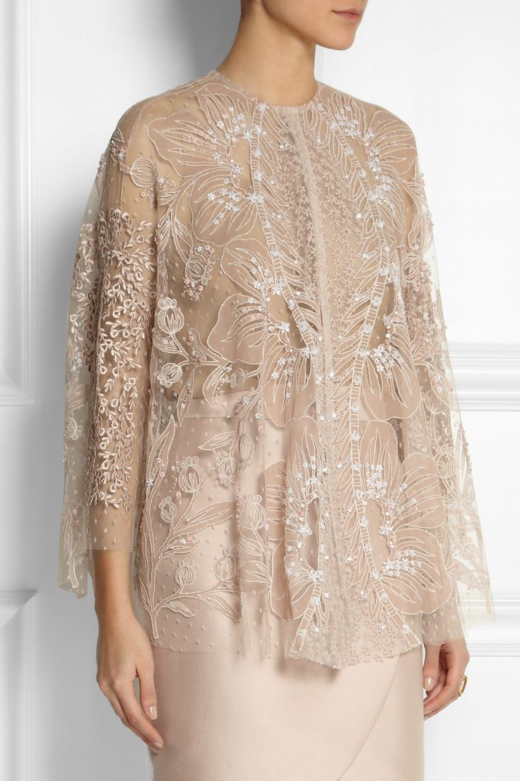 Biyan Kalla embellished tulle cape jacket                                                                                                                                                                                 More