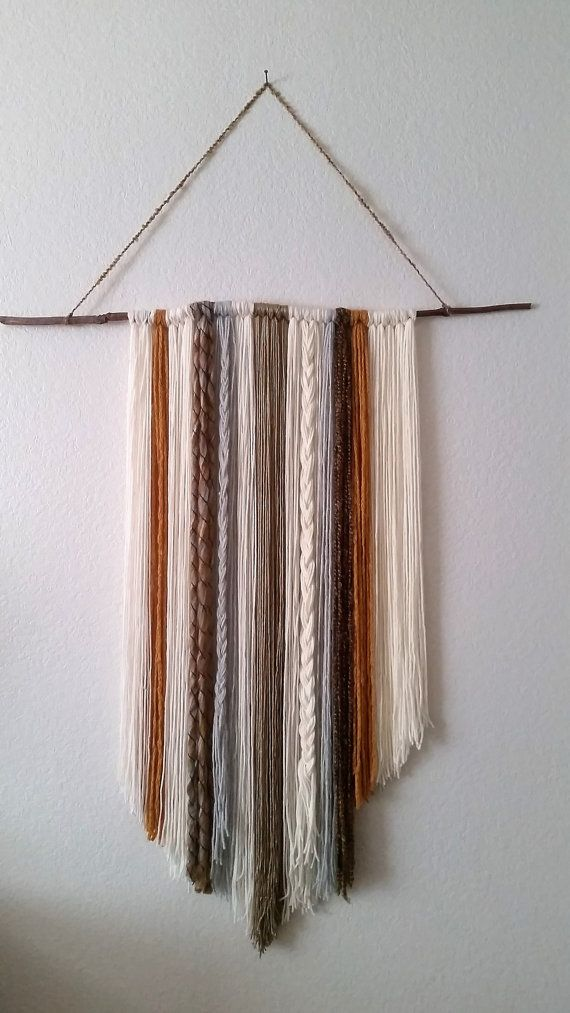 Modern wall yarn tapestry 48x36 by neutrallove on Etsy