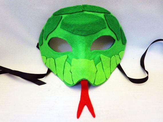 Felt Snake Chibi Mask Digital File by MarstenCo on Etsy