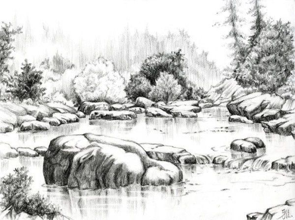 Best Pencil Sketches Of Nature Ideas On Pinterest Sketches Steemit Landscape Pencil Drawings Landscape Sketch Landscape Drawings