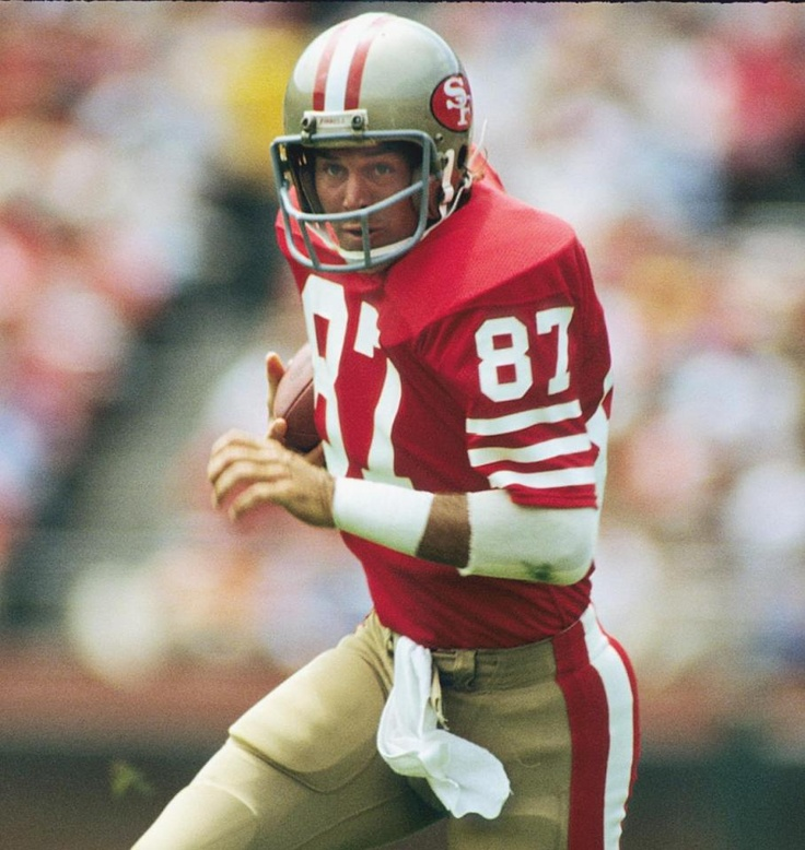 """Dwight Clark-And to think the Niners were down at Clemson recruiting another player and he stuck out and the rest is.......So scouts here's a cautionary tale, the guy you look for might not be the one, but there's a guy that might make """"The Catch"""""""