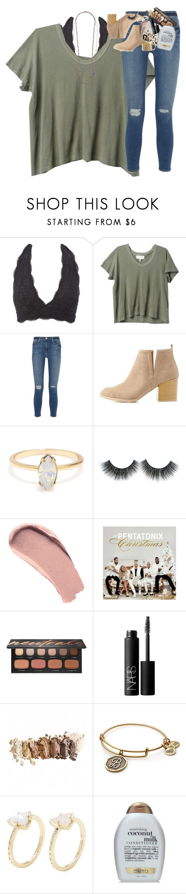 """""""qotd: favorite ice cream flavor?"""" by classynsouthern ❤ liked on Polyvore featuring Charlotte Russe, The Great, Frame, Burberry, Bare Escentuals, NARS Cosmetics, Alex and Ani, Kendra Scott and Chan Luu"""