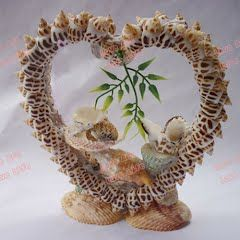 Garden Decor Hanging Seashell Pearl Diy