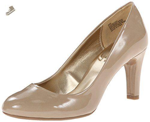 pumps: Bandolino Women's Lantana Synthetic Dress Pump, Natural, 8 M US