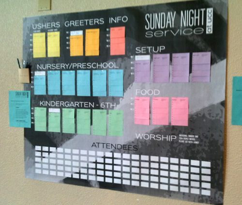 How to Make a Volunteer Sign-up Board | churcheventipedia.com http://www.churcheventipedia.com/churcheventipedia/index.php?option=com_content&view=article&id=54:how-to-make-a-volunteer-sign-up-board&catid=37:volunteers&Itemid=49