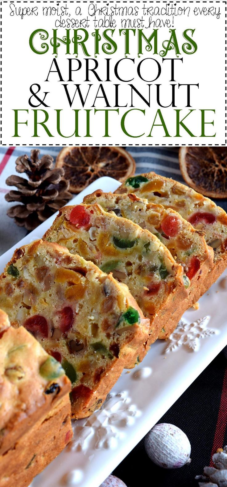 A common Christmastime tradition is fruitcake, and there's so many varieties to choose from. My version is free of alcohol and loaded with both candied and dried fruit, as well as walnuts. Christmas Apricot and Walnut Fruitcake just might be your…