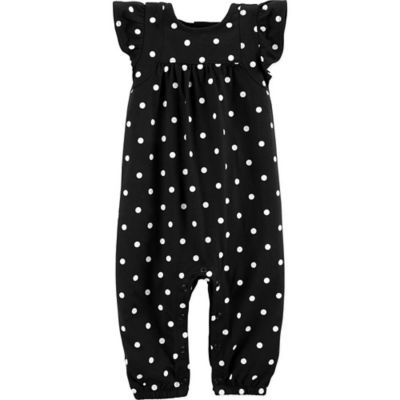 1883a96b5 Carter's Newborn Polka Dot Romper In Black/white | Products | Carters baby  girl, Carters baby, Polka dots