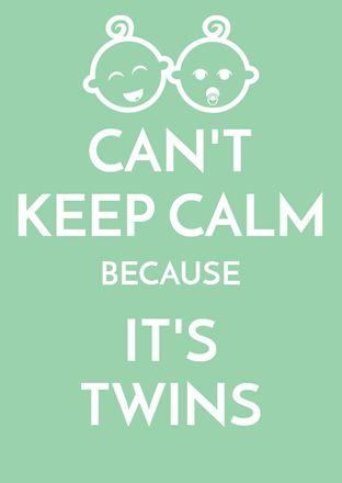Keep calm tweeling kaartje