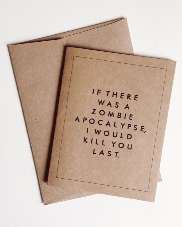 #Valentinstag #Karte #Zombie