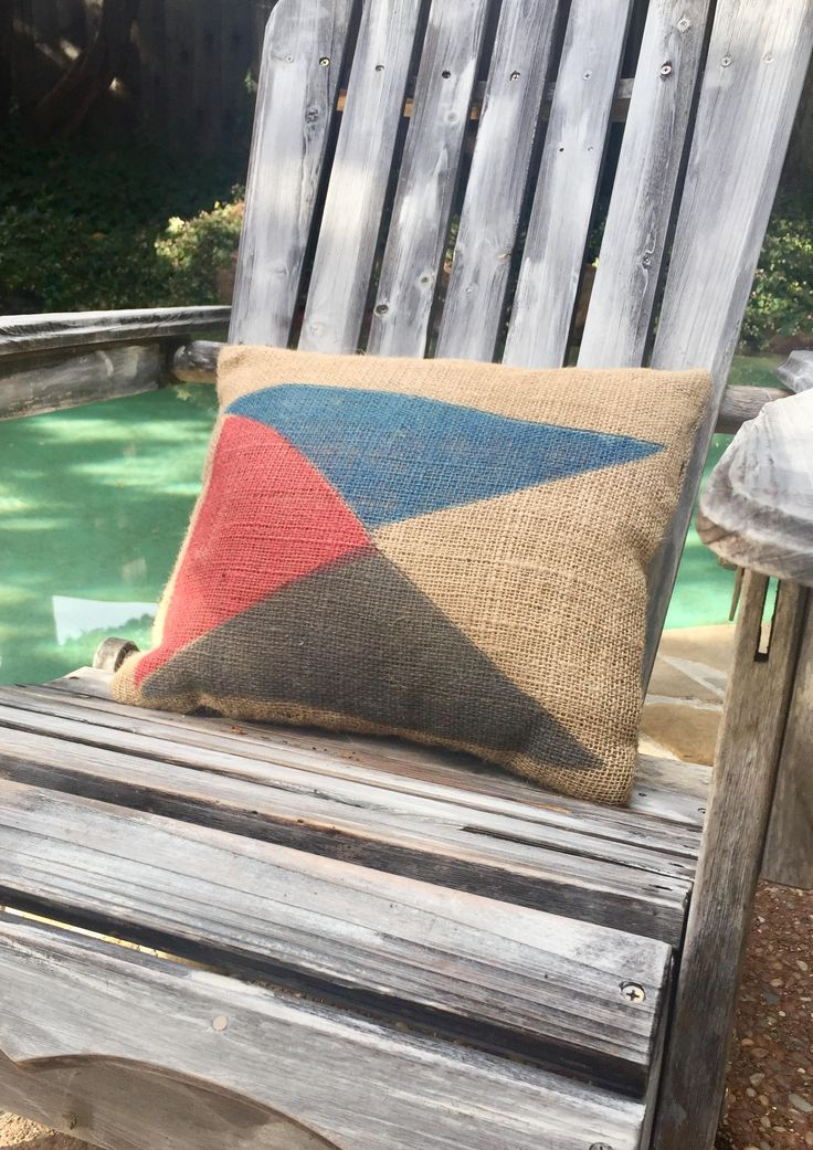 Burlap Sailing Pillow/Nautical Man Cave Pillow/Men's Gift/Coffee Sack Pillow/Lake, Beach House Decor/Outdoor Flag Stamped Pillow by MagnaniHoldingCo on Etsy