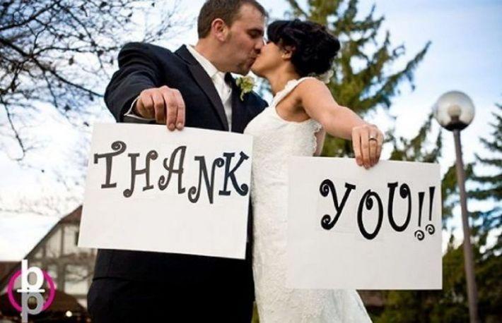 O nouă tendință: scrisori de mulțumire pentru nuntași