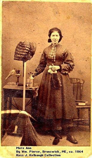 """Occupational Portrait believed to be a """"House-Keeper"""" circa 1864"""