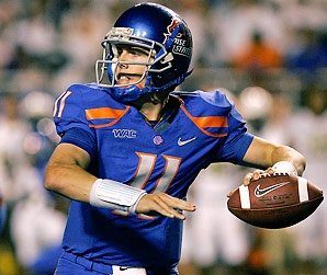 One of the best quarterbacks in the history of college football Number 11 Kellen Moore quarterback for the Boise State Broncos 2008 -2012