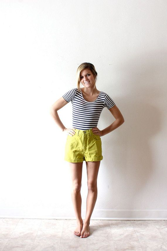 Vintage Lime Green Guess Shorts