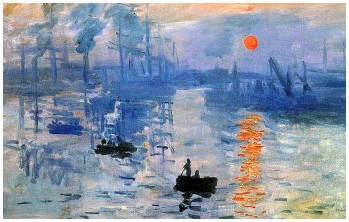 Клод Моне Впечатление восход солнца, 1872 музей Мармоттан-Моне, Париж