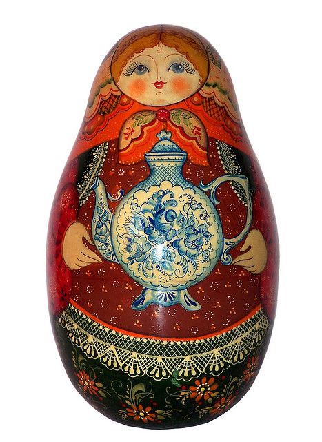 Matryoshka, Russian Nesting Doll. Time for Tea. http://www.pinterest.com/MatryoshkasSoap/one-of-a-kind-matryoshka/