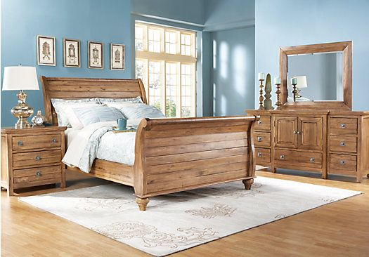 shop for a summer grove natural 7 pc king bedroom at rooms