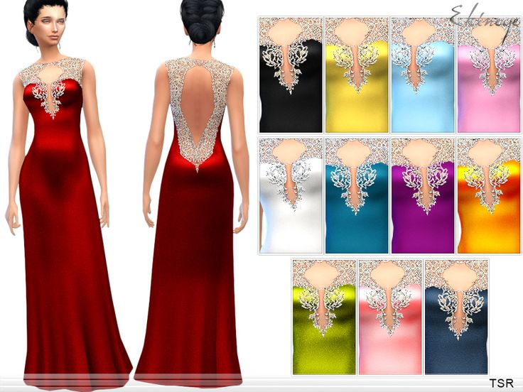 Sims 4 red dress party