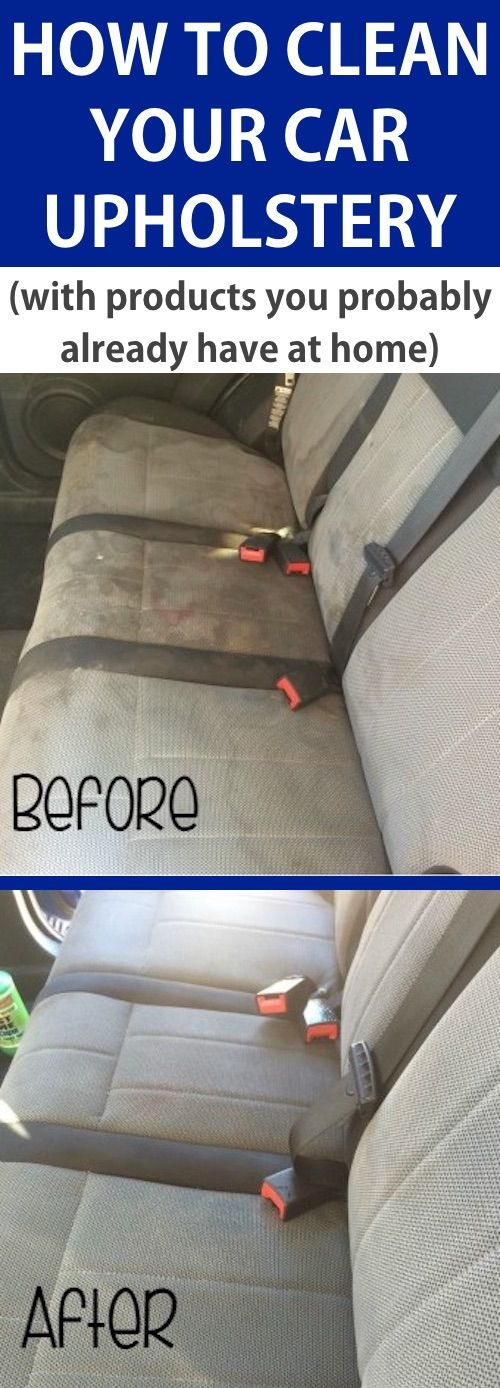 DIY Car cleaning tip for the interior seats! -- A list of cleaning tips and tricks for lazy people (for the bathroom, bedroom, kitchen and more!). Listotic.com
