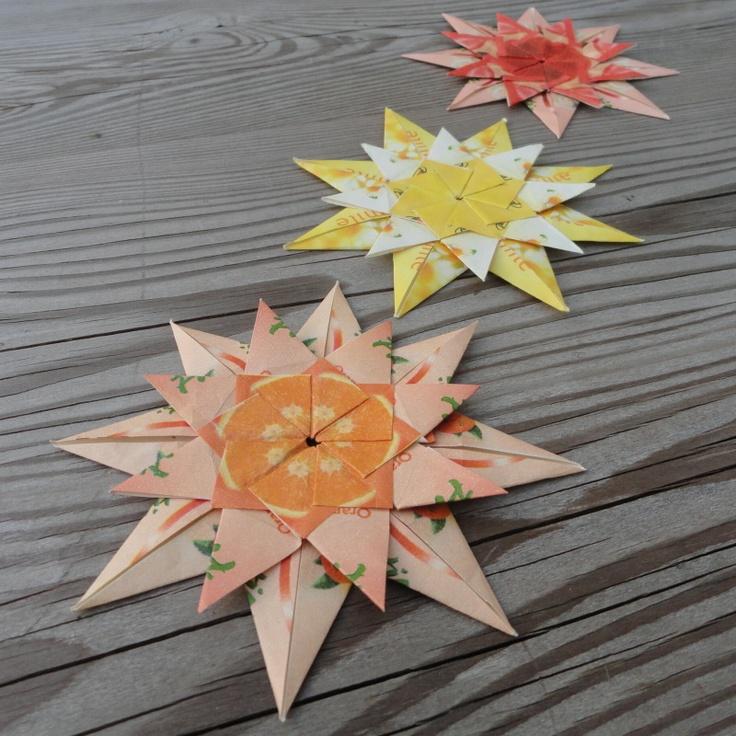 Teabag folding stars