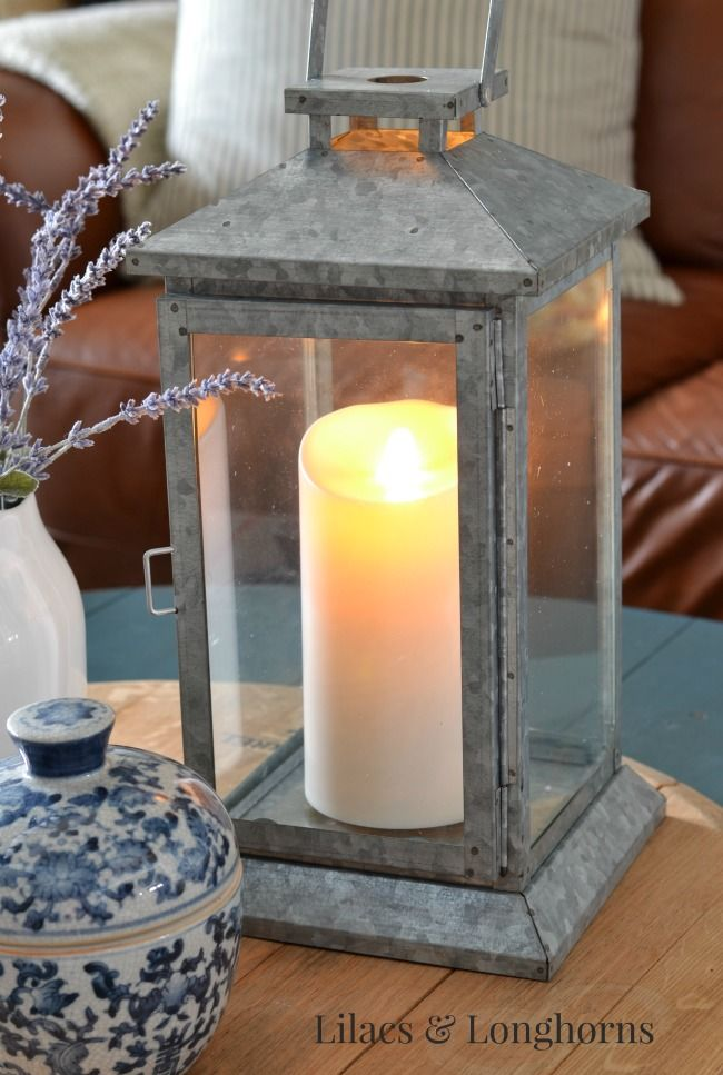Luminara candles give your living room a soothing glow for those warm summer nights. @julschock