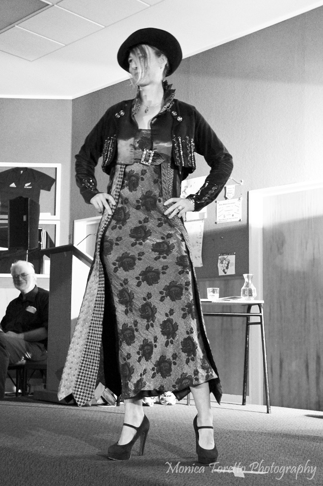 Another creative design by local talent.  Upcycle Fashion Show, Invercargill.  June 14, 2013.