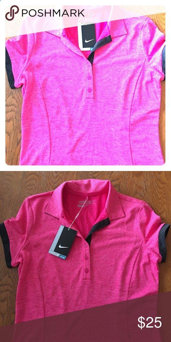 Golf Shirts - Nike womans golf shirt New womans Nike golf shirt (very slimming) Nike Tops Button Down Shirts