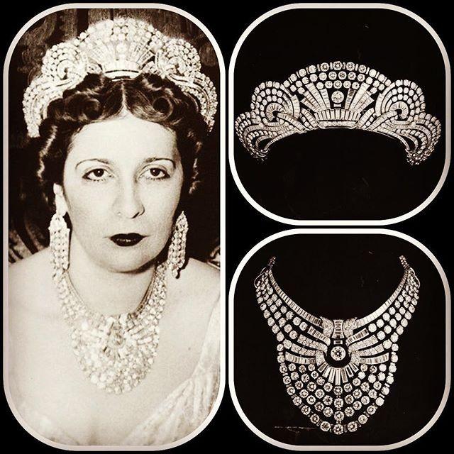 تاج من الماس مرصع 54 ماسه على شكل كمثري وزنها 92 قيراطا و530 فص على شكل باجيت ماس على شكل عصا صغيره أو مربعات مستطيله وزنها Royal Jewelry Royal Jewels Tiara