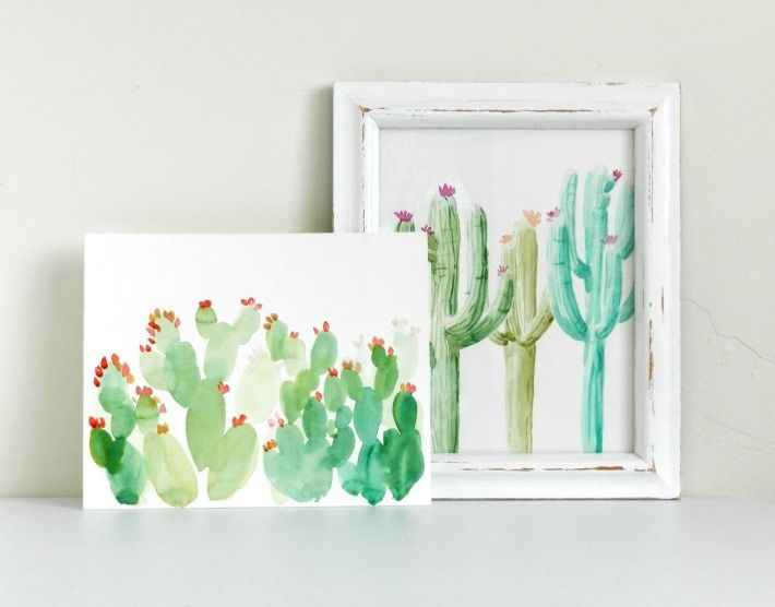 Learn how to paint a watercolor cactus two different ways! In this tutorial, we'll teach you to paint a saguaro cactus and a prickly pear cactus.