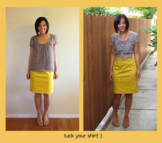 shirt-tuck with Plus size Pencil skirts