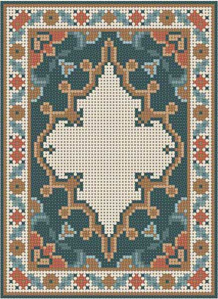 Miniature rug pattern - or - multi functional craft pattern use for: cross stitch chart or cross stitch pattern, crochet pattern, knitting, knotting pattern, beading pattern, weaving and tapestry design, pixel art, micro macrame, friendship bracelets, and other crafting projects.