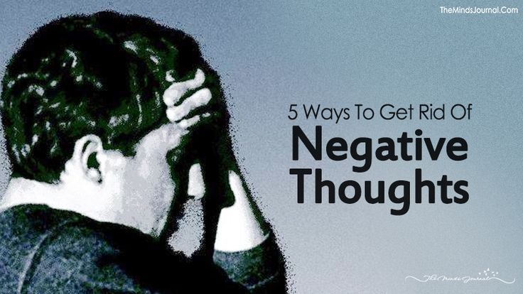 how to get rid on negative thinking