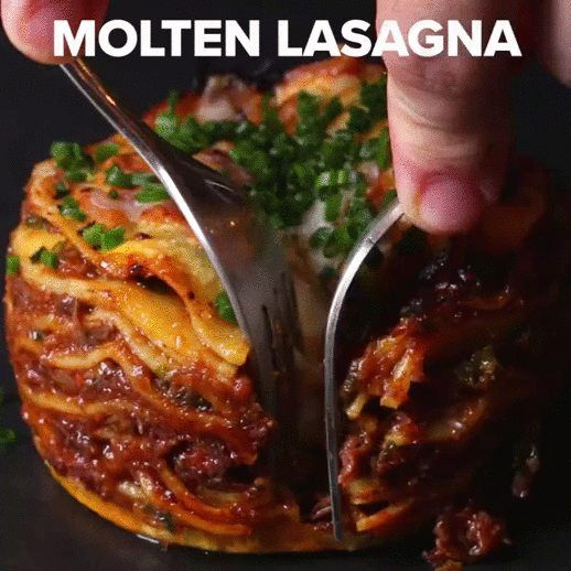 Molten Lasagna by Chef Thiago Silva Ah look at that thing I'm never going to put that much work into.  Just make normal lasagna and have a jug of bechamel on the table, so everyone can pour it over...